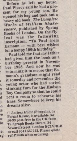 telegraph-cutting-1999-re-eamonns-birthday-gift-to-paul